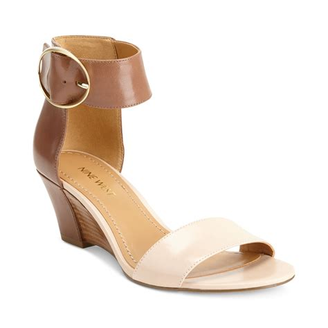 demi wedge sandals nine west ventana ankle demi wedge sandals in brown