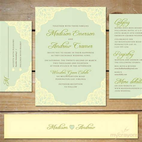 minted wedding invitations 2 mint wedding invitation suite diy printable wedding invitations mint wedding invite lace