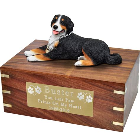 urns for dogs wholesale pet cremation wood urns bernese mountain laying