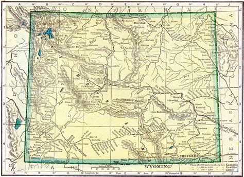 Records Wyoming 1910 Wyoming Census Map Access Genealogy