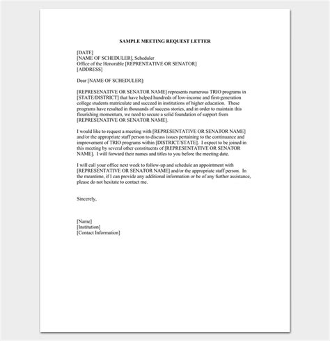 appointment letter meeting business appointment letter 20 sles exles formats