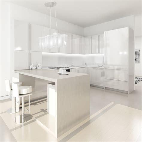 red white kitchen design