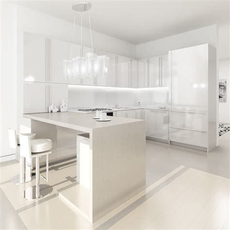 Modern Kitchen With White Cabinets White Kitchen Design Best Home Decoration World Class