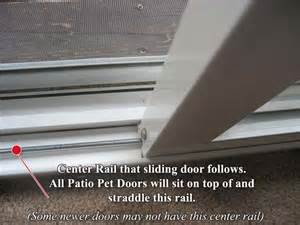 Pet Door Patio Door Pet Doors For Sliding Doors Bottom Track Width Measurement