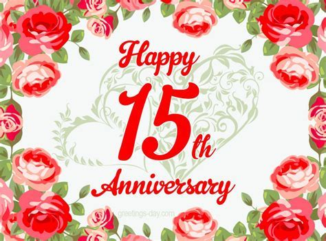 15 year Anniversary   Free Ecards and Pics.