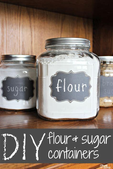 flour storage ideas diy gift idea flour and sugar storage containers