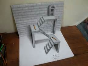 How To Draw 3d Stairs On Paper by 3d Stairs Drawing Related Keywords Amp Suggestions 3d