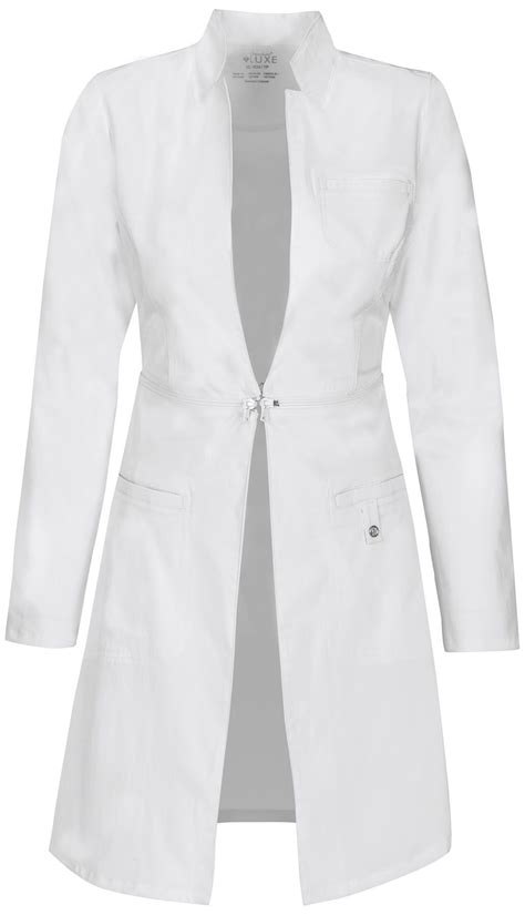 design lab uniforms cherokee luxe 32 quot lab coat a sleek contemporary lab coat