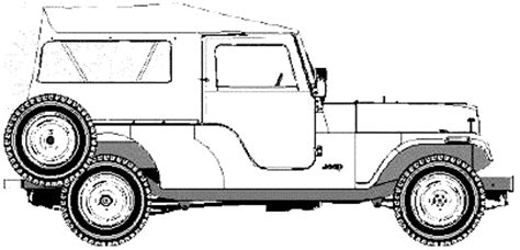 safari jeep drawing car blueprints amc jeep cj6 safari blueprints vector
