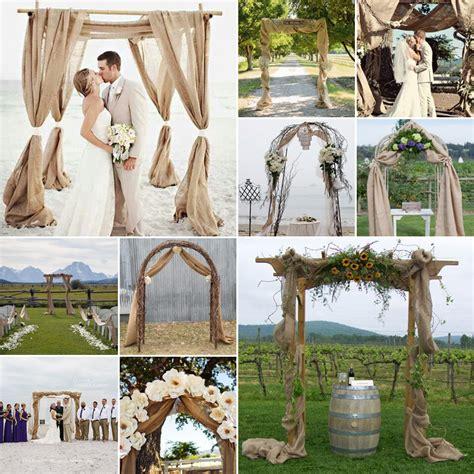 wedding arches decorated with burlap burlap wedding arches