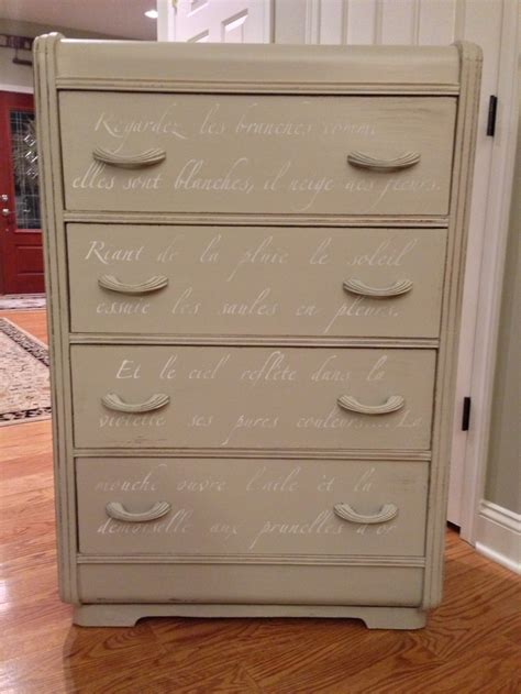 Waterfall Dresser by Painted Waterfall Dresser Curtain Call Furniture