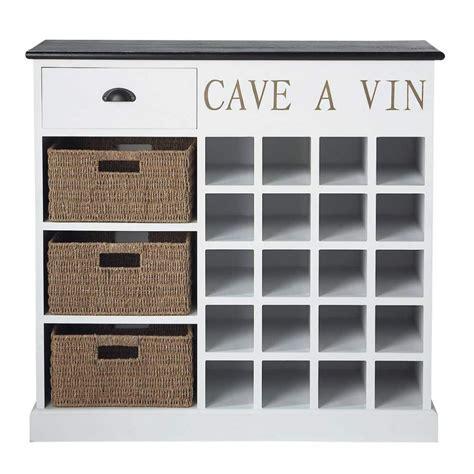meuble range bouteilles en bois blanche l 102 cm comptoir