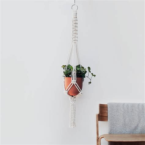 Macrame Flat Knot - macrame plant hanger the flat knot in cotton by koala