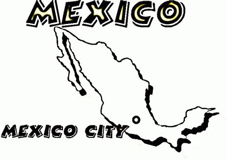 coloring page mexico map mexico coloring pages coloringpagesabc com