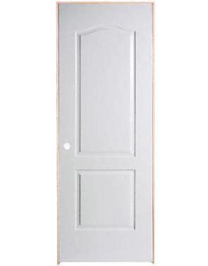 24 Inch Interior Door Masonite 24 Inch X 80 Inch Righthand 2 Panel Arch Top Textured Prehung Interior Door The Home