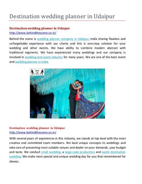 Wedding Planner Udaipur by Destination Wedding Planner In Udaipur
