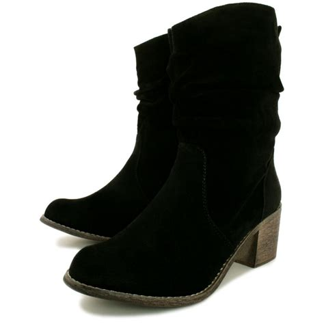 black ankle boots for buy mars block heel western ankle boots black suede style