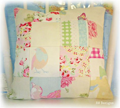 Shabby Chic Patchwork - shabby chic style patchwork cushion on luulla
