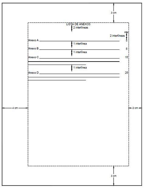 anexos formas apa ejemplo de lista de anexos