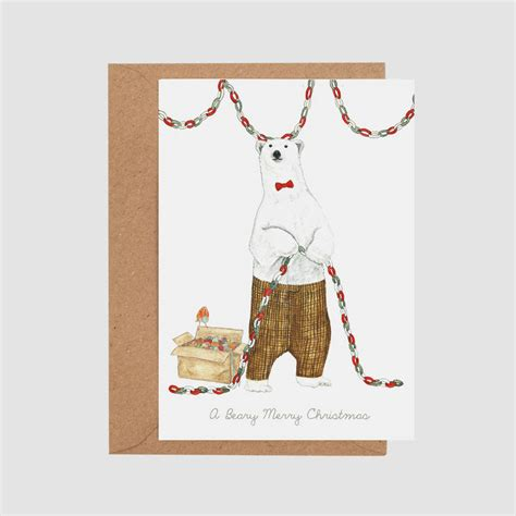 Peebles Gift Card - beary merry christmas card by mister peebles