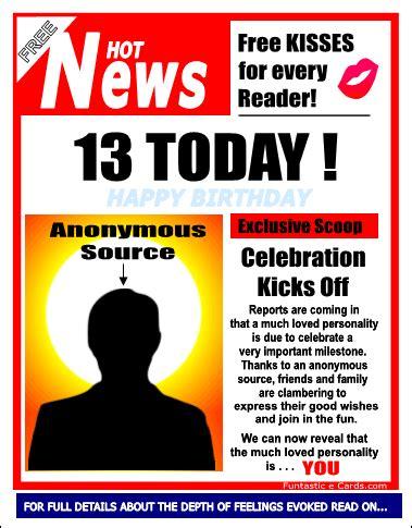 printable birthday cards 13 year old boy free milestone birthday cards for 11 12 13 14 15 16 17
