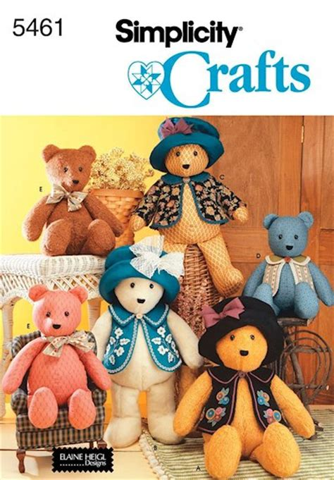 memory bear pattern free simplicity pin teddy bear sewing pattern collector on pinterest