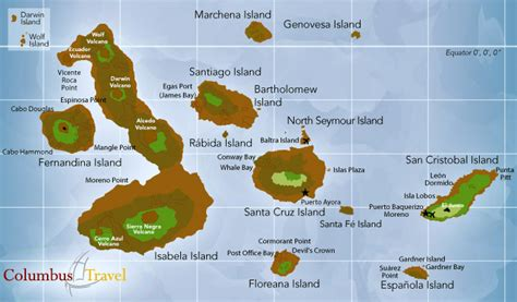 galapagos map travels with and galapagos islands ecuador gal 225 pagos islands