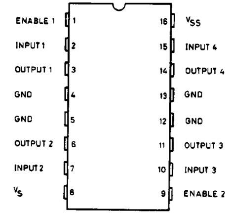 pin diagram of l293d intellectus acturi driving circuits for dc motors