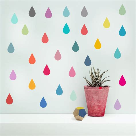 vinyl wall stickers raindrop vinyl wall stickers by oakdene designs