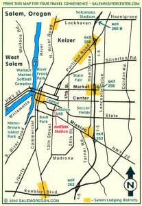 salem oregon map print this salem oregon travel map