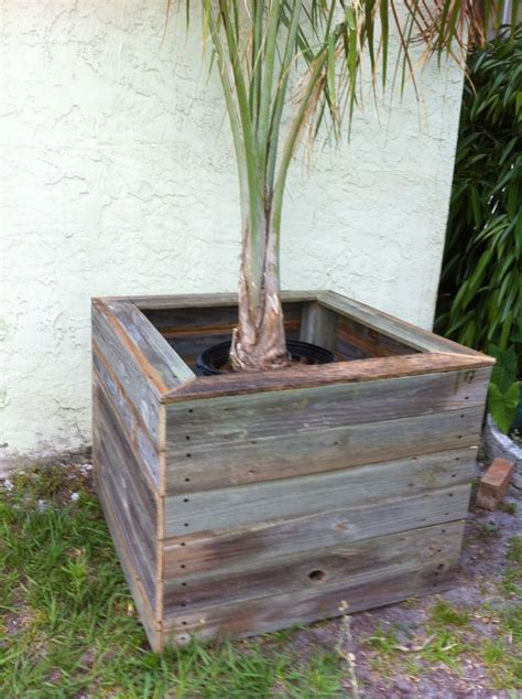 Fence Hanging Planter Box by Reclaimed Fence Planter Box Fence Repurposed