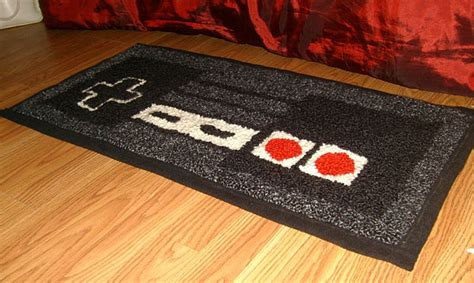 Nes Controller Rug warm your 8 bit toes on an nes controller rug