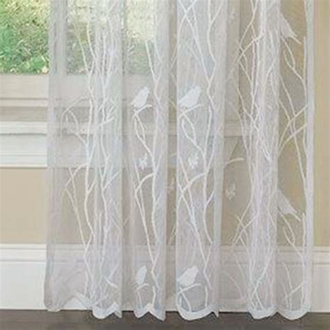 lacy curtains troubadour birds lace curtain window treatment