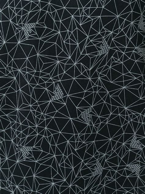 black pattern geometric armani jeans geometric pattern t shirt in black for men lyst