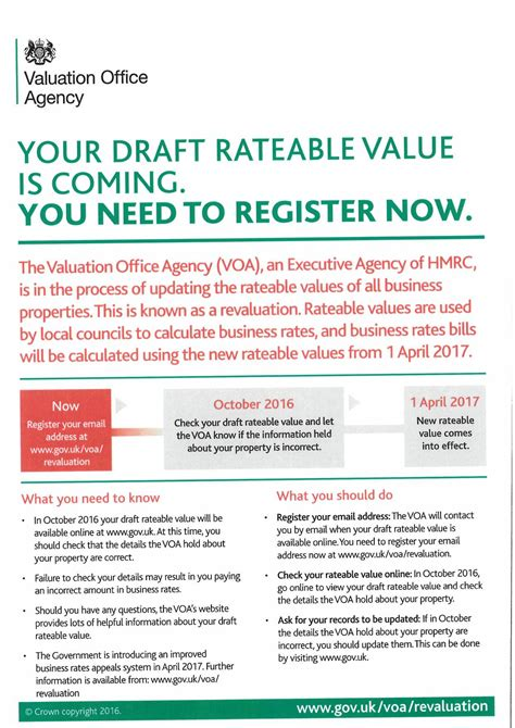 mua property services your draft rateable value is coming