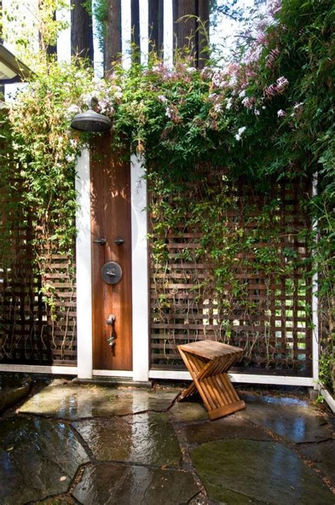 50 stunning outdoor shower spaces that take you to