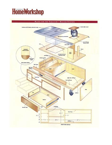 make a tablesaw router and work station canadian home