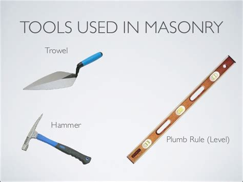 masonry presentation