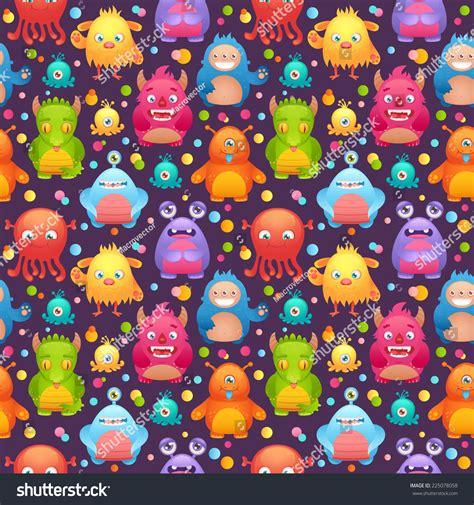 cute alien pattern cute cartoon monsters funny alien character dark