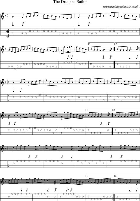 Folk and Traditional Music, Sheet-Music, Mandolin tab