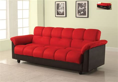 red microfiber loveseat achava microfiber red adjustable futon sofa