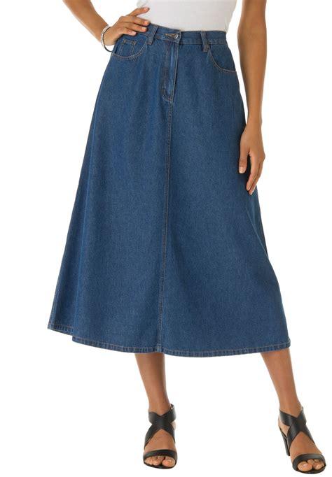 denim a line skirt plus size skirts fullbeauty