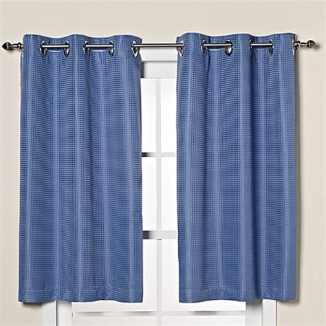 45 inch curtains buy hookless 174 waffle 45 inch window curtain in moonlight