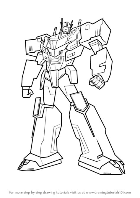 easy transformer coloring page learn how to draw optimus prime from transformers