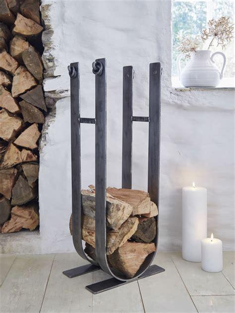 artisan wrought iron log stack firewood storage