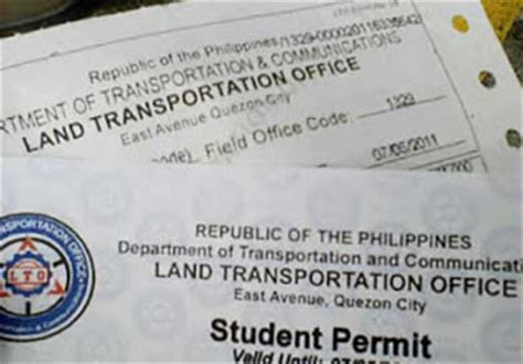 Driver License Office Near Me by Lto Student License Permit Fees And Requirements Lto