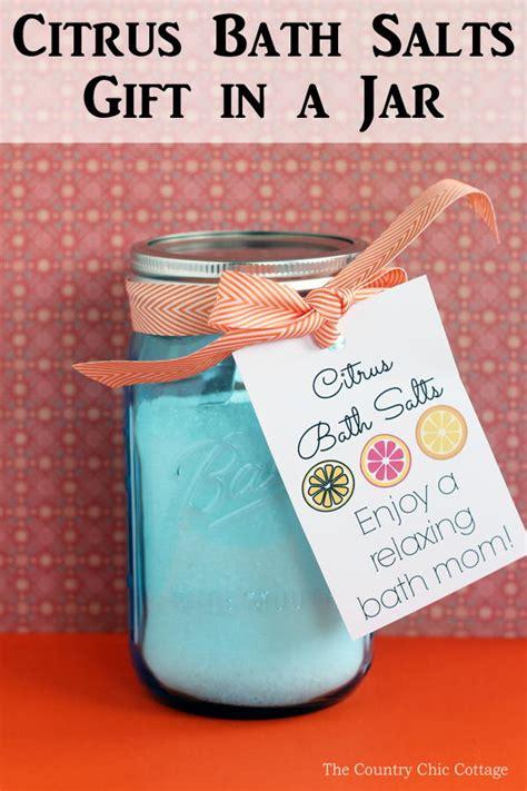 citrus bath salts gift jar diyideacentercom