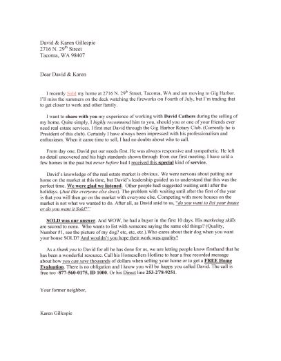 real estate prospecting letter template letter template 2017