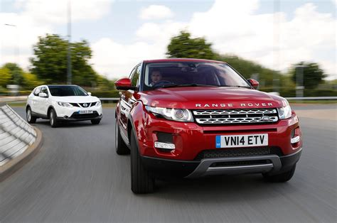 nissan range rover new versus used nissan qashqai or range rover evoque