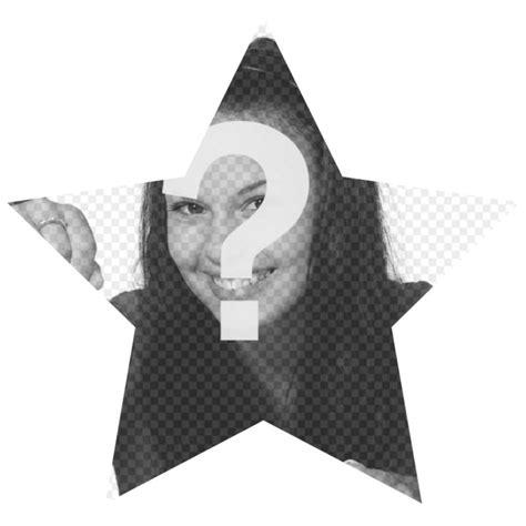 mettere cornici alle foto stella a forma di cornice per mettere le immagini